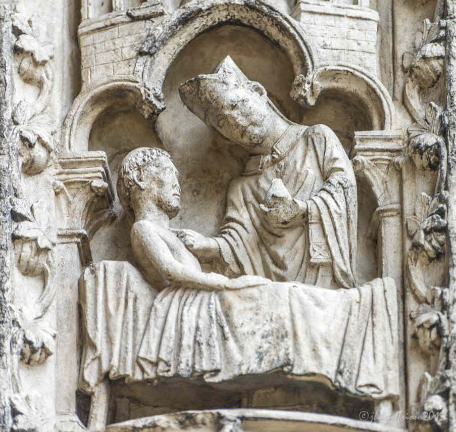 Anointing of the sick, South Porch (East bay)