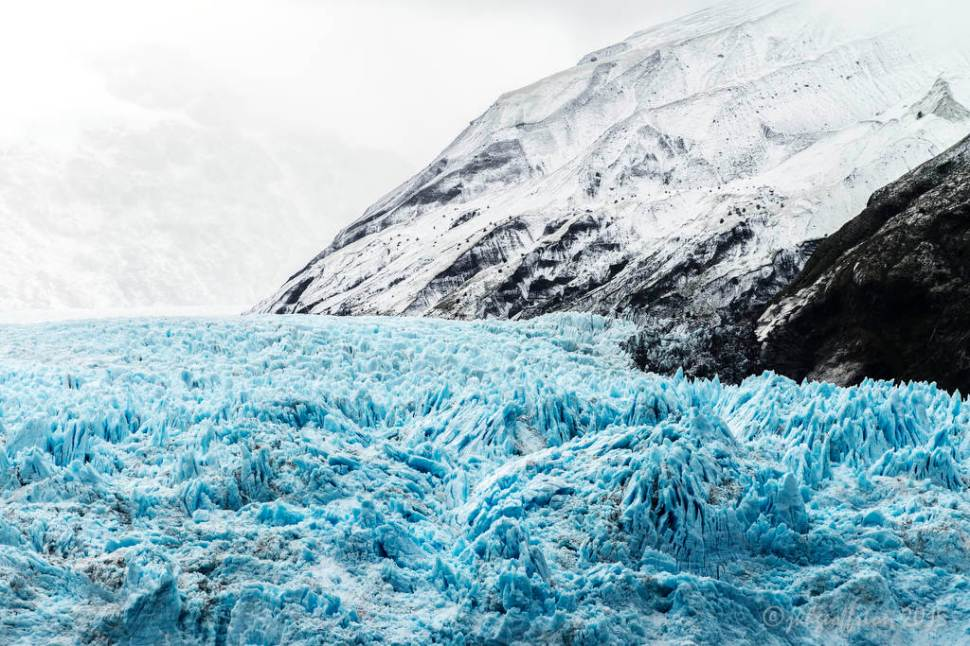 The rugged top side of a Chilean glacier