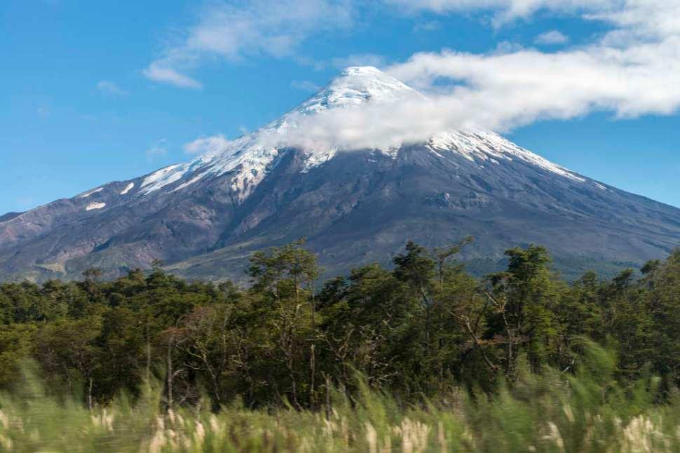 Orsono Volcano in the Lakes District, Chile