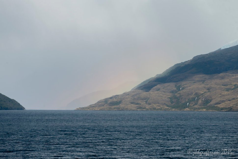 Rainbow in a Chilean Fjord