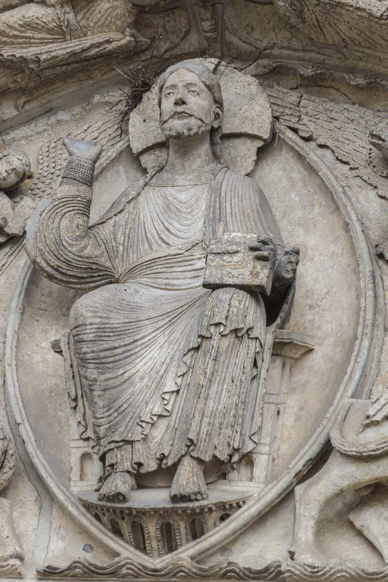 Christ in Majesty, West Central Portal
