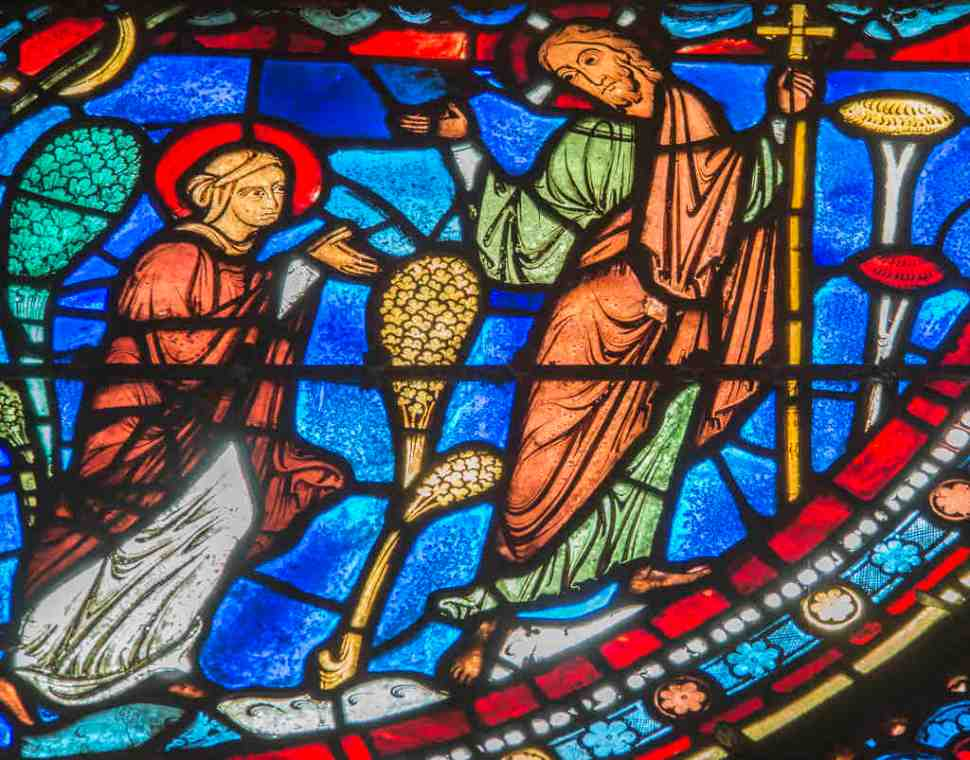 Mary and the Risen Christ talk together