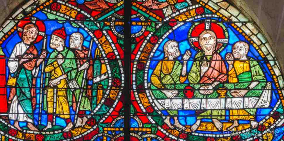 Christ's presence with the disciples from Emmaus