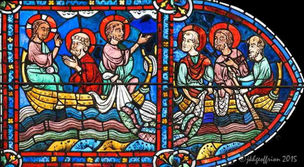 Miraculous Catch, Apostles Window Chartres