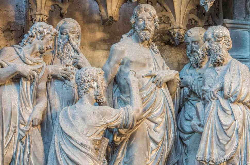 Thomas Touching Jesus, Outer Choir Sculptures (32)