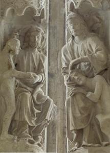 God creates humanity, Chartres