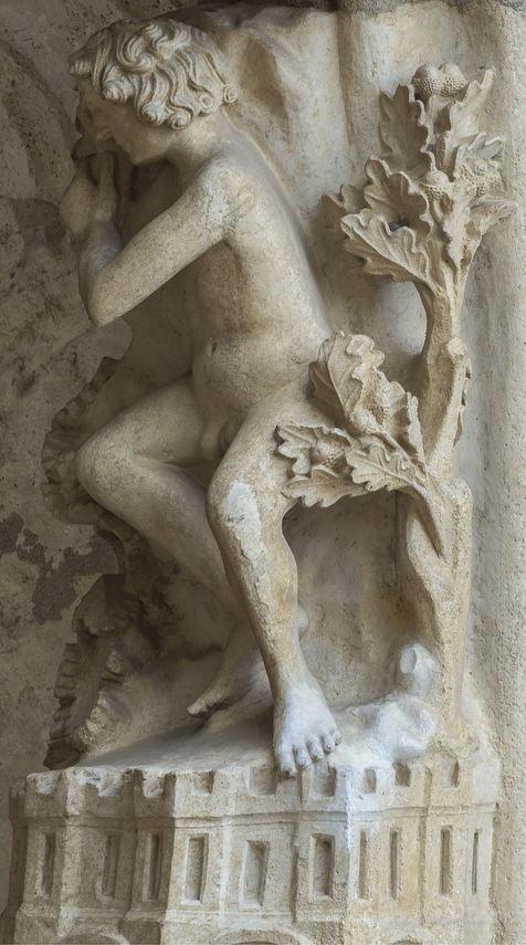 Adam sleeping in the Garden of Eden