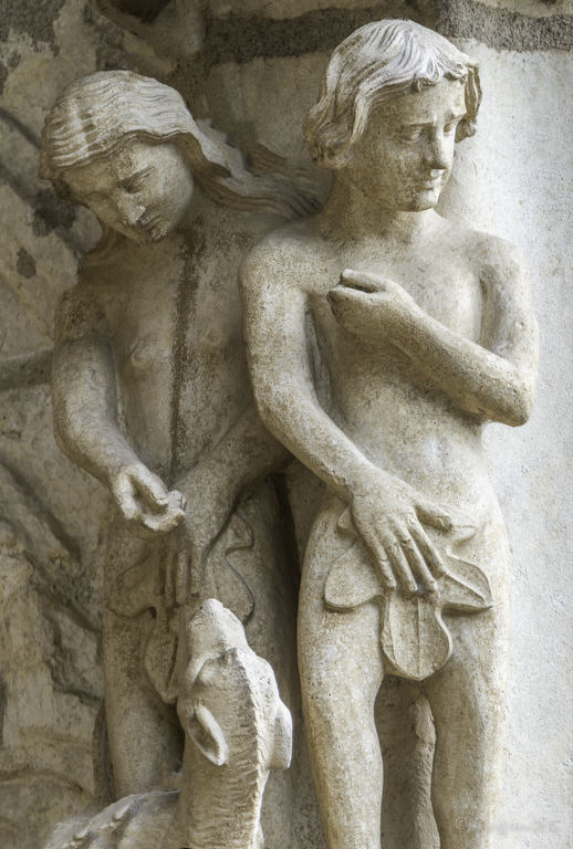 Adam blaming Eve, Chartres