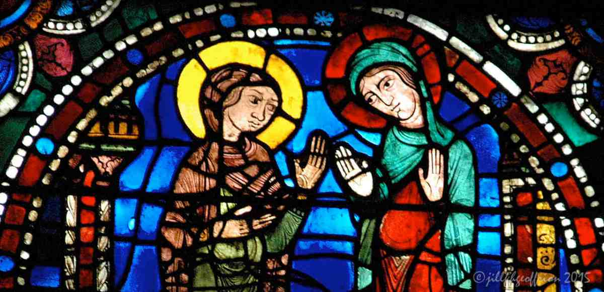 The Chartres Labyrinth and Mary (6) The Life of Christ Window