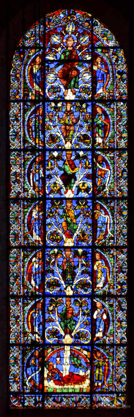 Tree of Jesse Stained Glass Window, 12th century