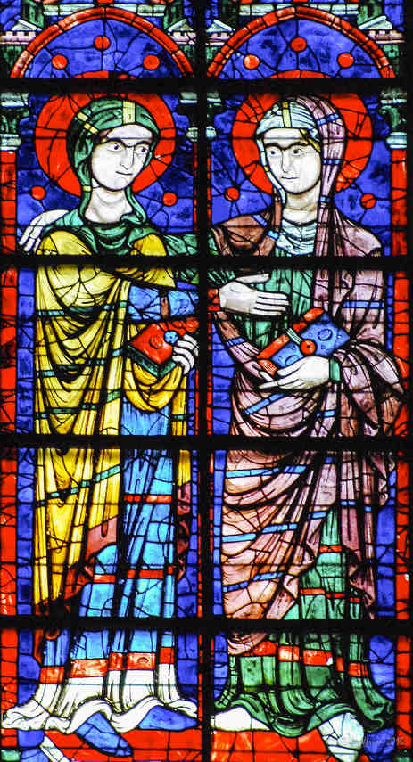 The Visitation of Mary and Elizabeth in the Apsidal Window