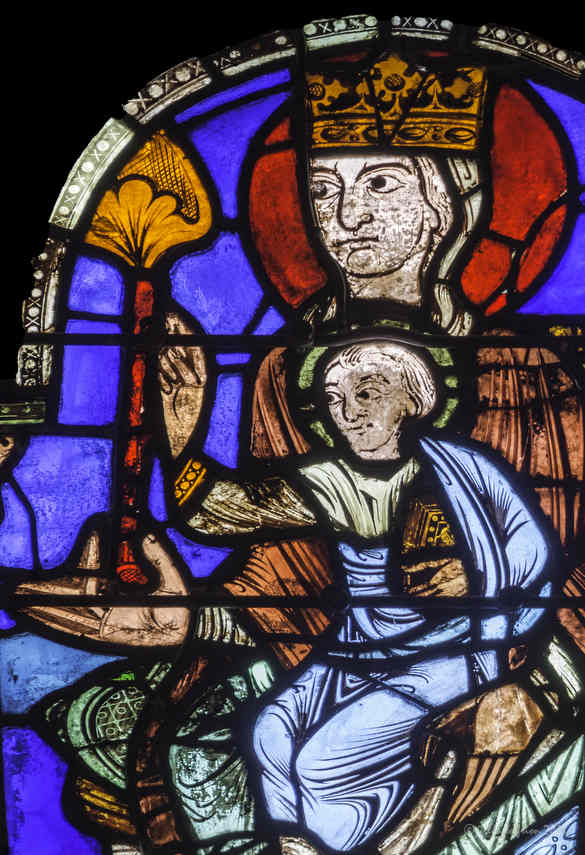 Wise men visit Jesus sitting on his mother's lap