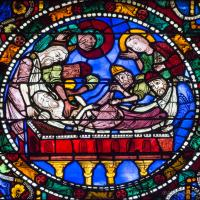 The Chartres Labyrinth and Mary (14) The Passion and Resurrection Window