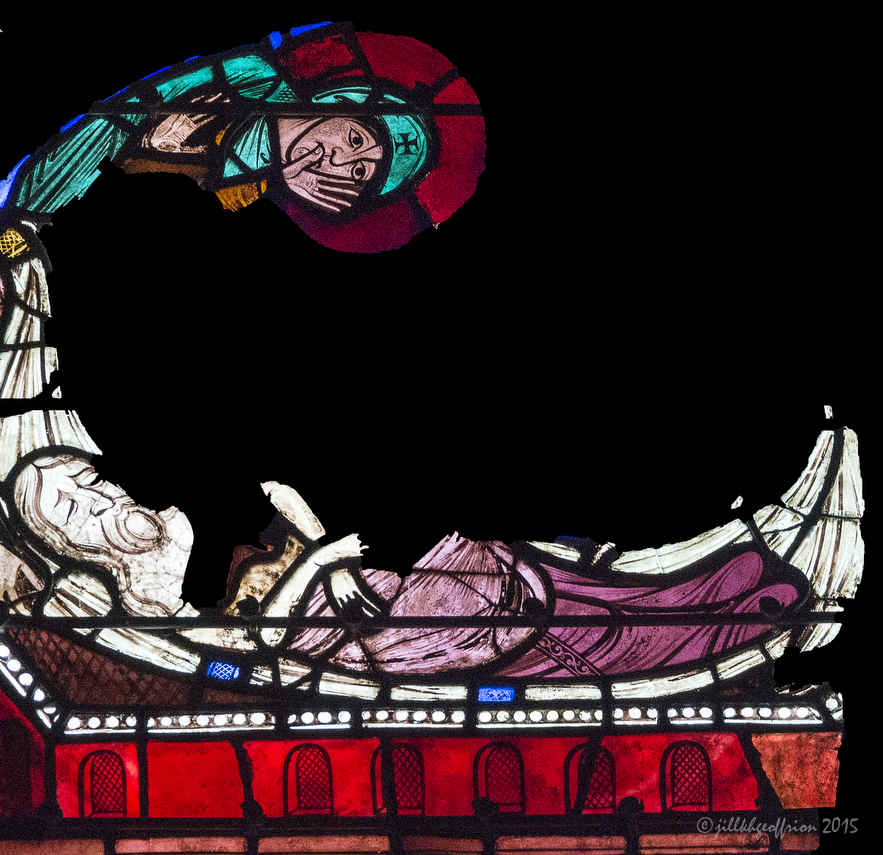 Mary during the Emtombment of Jesus, Passion Window