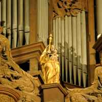 The Chartres Labyrinth and Mary (16) A Sculpture Adorning the Organ