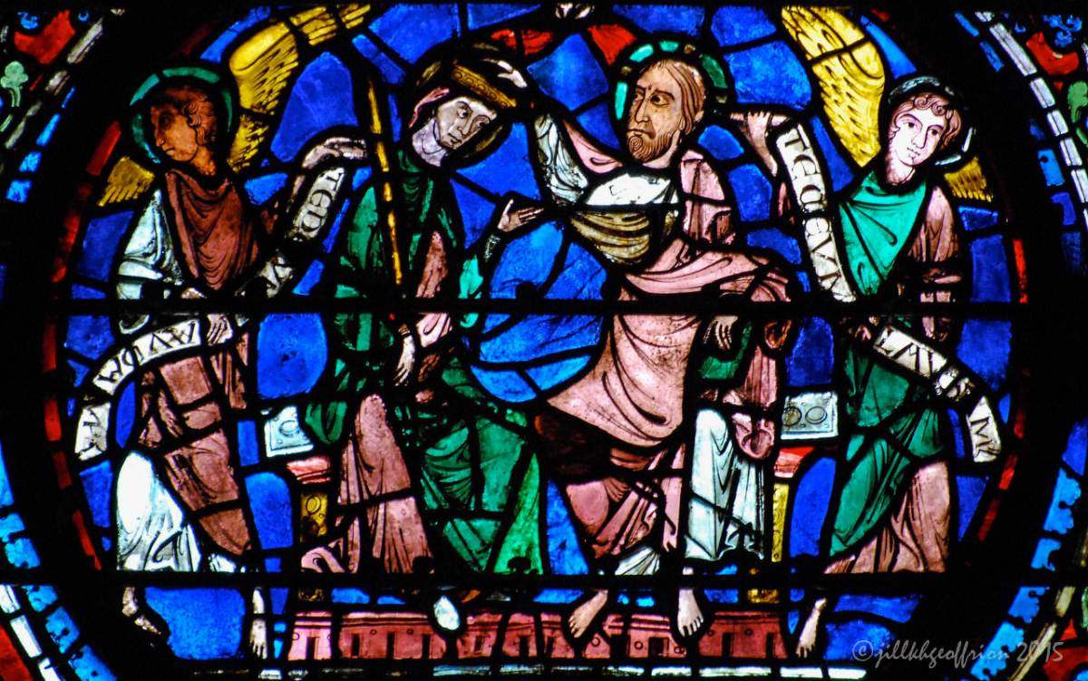 The Chartres Labyrinth and Mary (24) Glorification of Mary Window