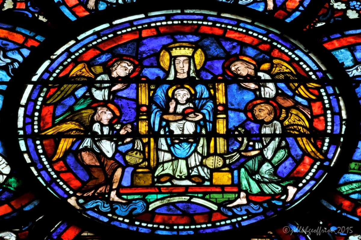 The Chartres Labyrinth and Mary (32) Miracles of Mary Window