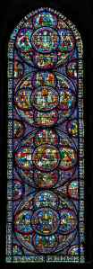 Miracles of Mary window by Jill K H Geoffrion