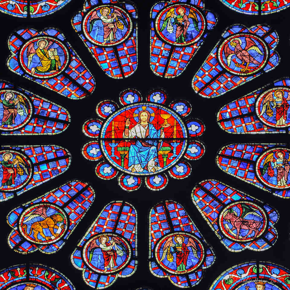 The South Rose at Chartres Cathedral by Jill K H Geoffrion