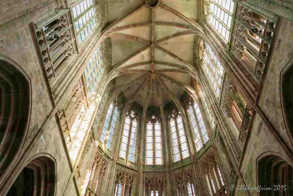 The upper choir windows of Mont St. Michel by Jill K H Geoffrion