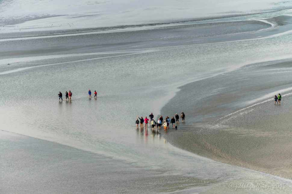 Pilgrims Cross Bay to Mont St. Michel, France by Jill K H Geoffrion