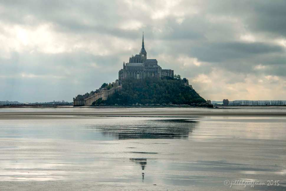 Mont St. Michel in the distance by Jill K H Geoffrion
