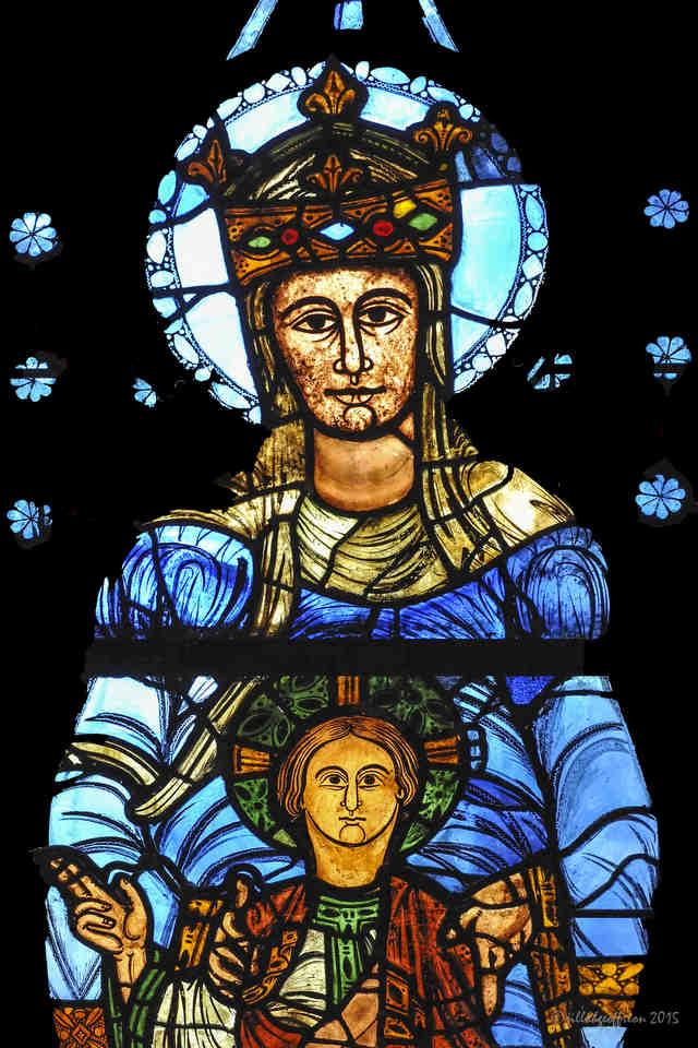 Blue of the Notre Dame de Belle Verrière Stained Glass Window by Jill K H Geoffrion