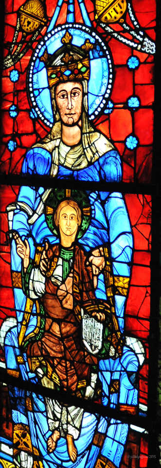 Mary and Jesus in Notre Dame de la Belle Verriere by Jill K H Geoffrion