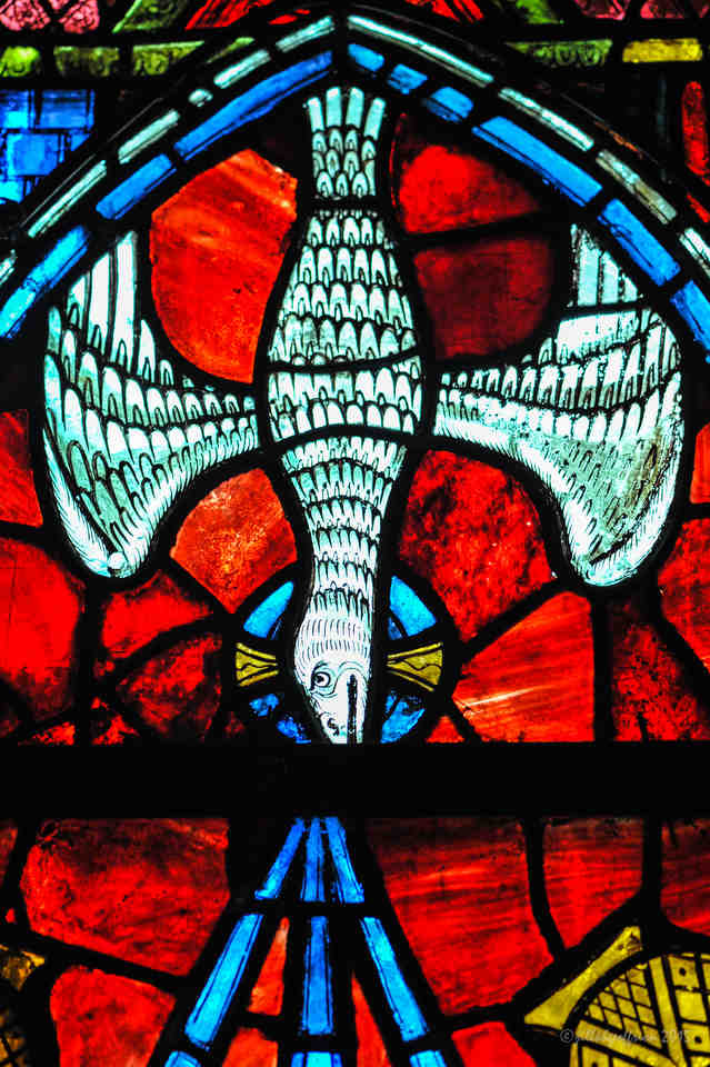 The Holy Spirit represented in Notre Dame de la Belle Verrière by Jill K H Geoffrion