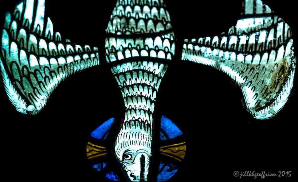 The Holy Spirit represented in Notre Dame de la Belle Verrière by Jill K H Geoffrion