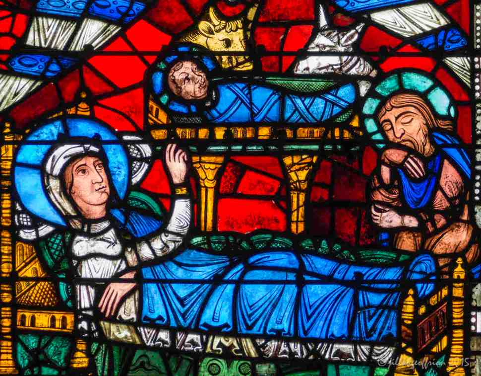 Nativity in the Life of Christ Window by Jill K H Geoffrion