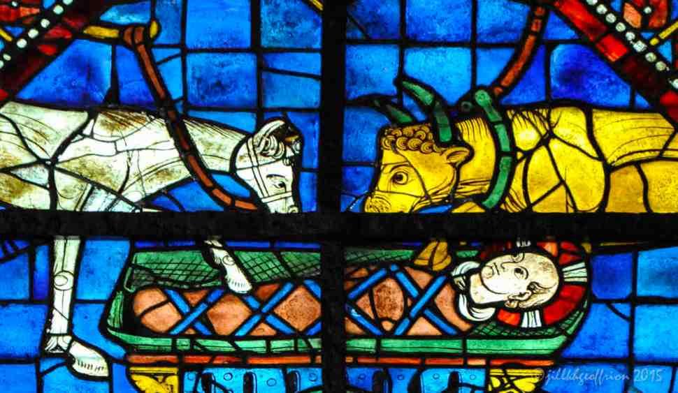 The Nativity in the S Choir Window by Jill K H Geoffrion