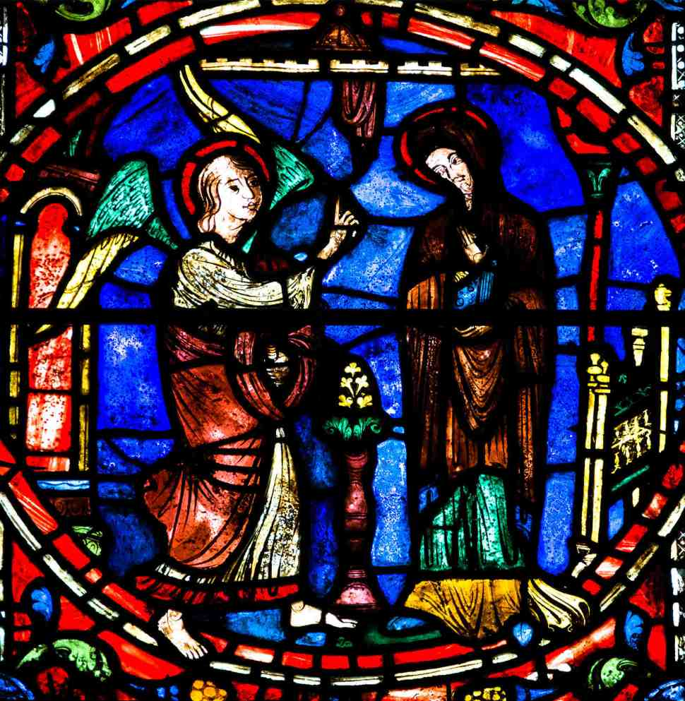 The Annunciation in the Life of Mary Window by Jill K H Geoffrion