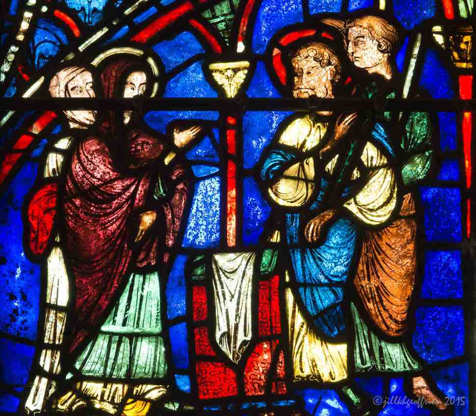The flowering of Joseph's rod in the Life of Mary Window by Jill K H Geoffrion