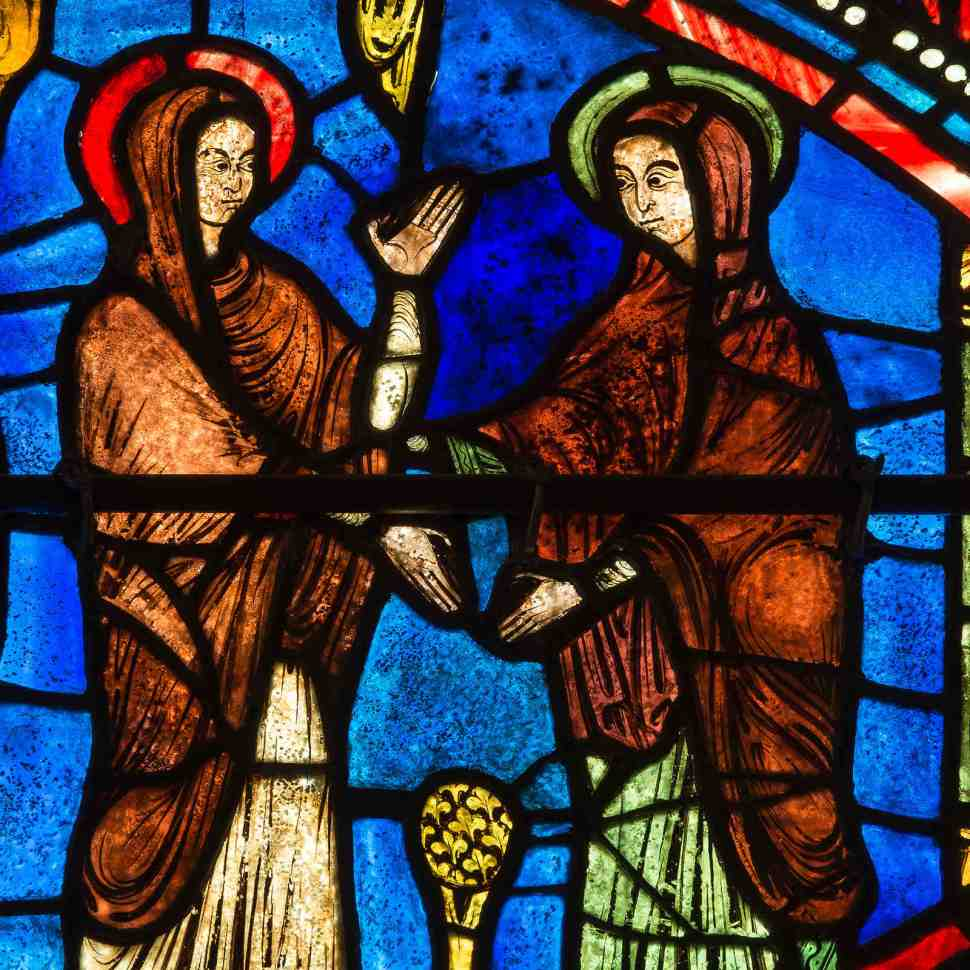 The Visitation in the Life of Mary Window by Jill K H Geoffroin