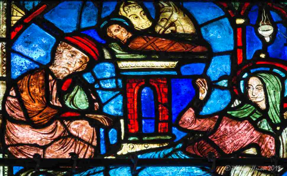 Nativity in the Life of Mary Window by Jill K H Geoffrion