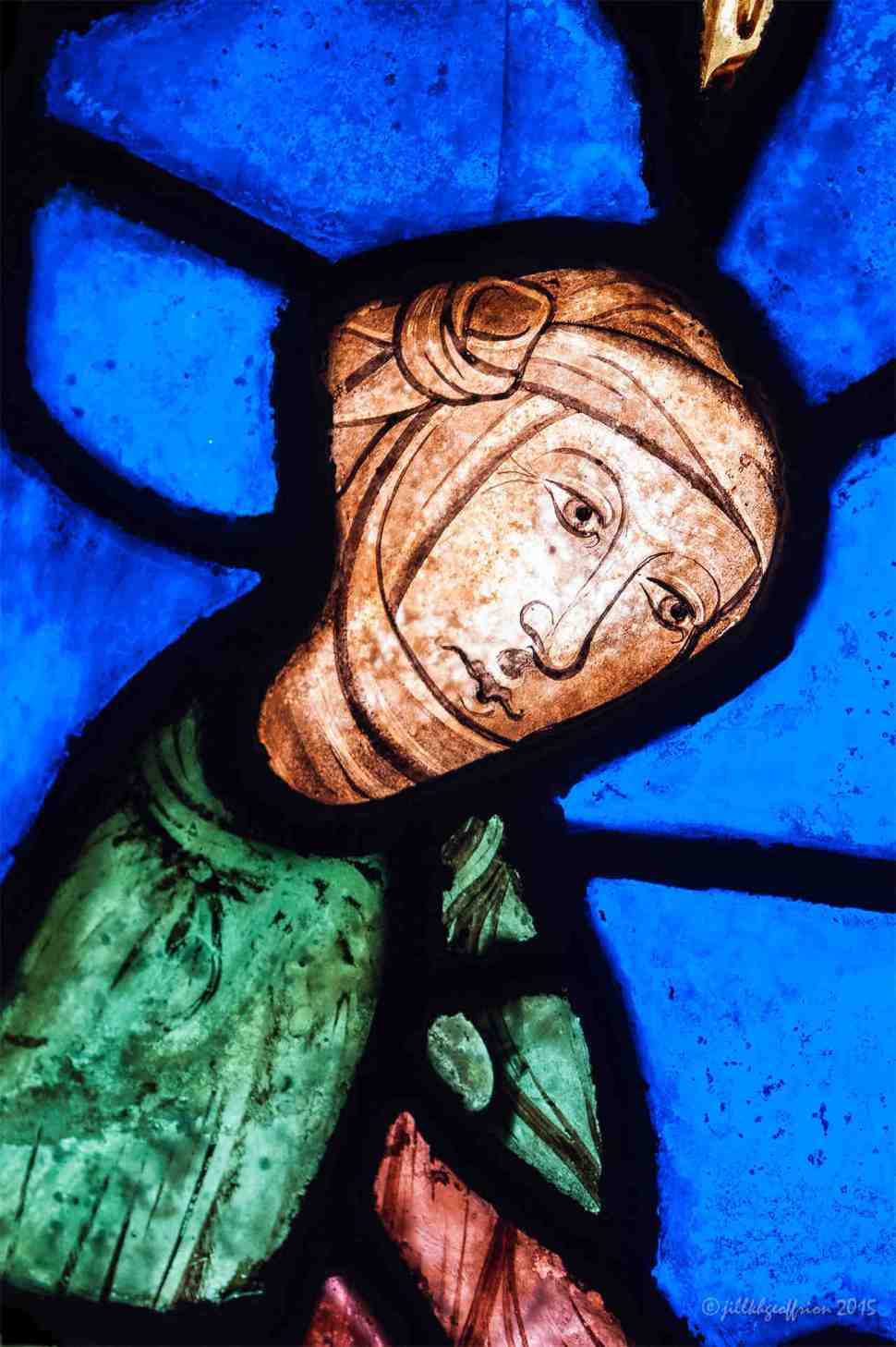 Mary's First Bath in the Life of Mary Window by Jill K H Geoffrion