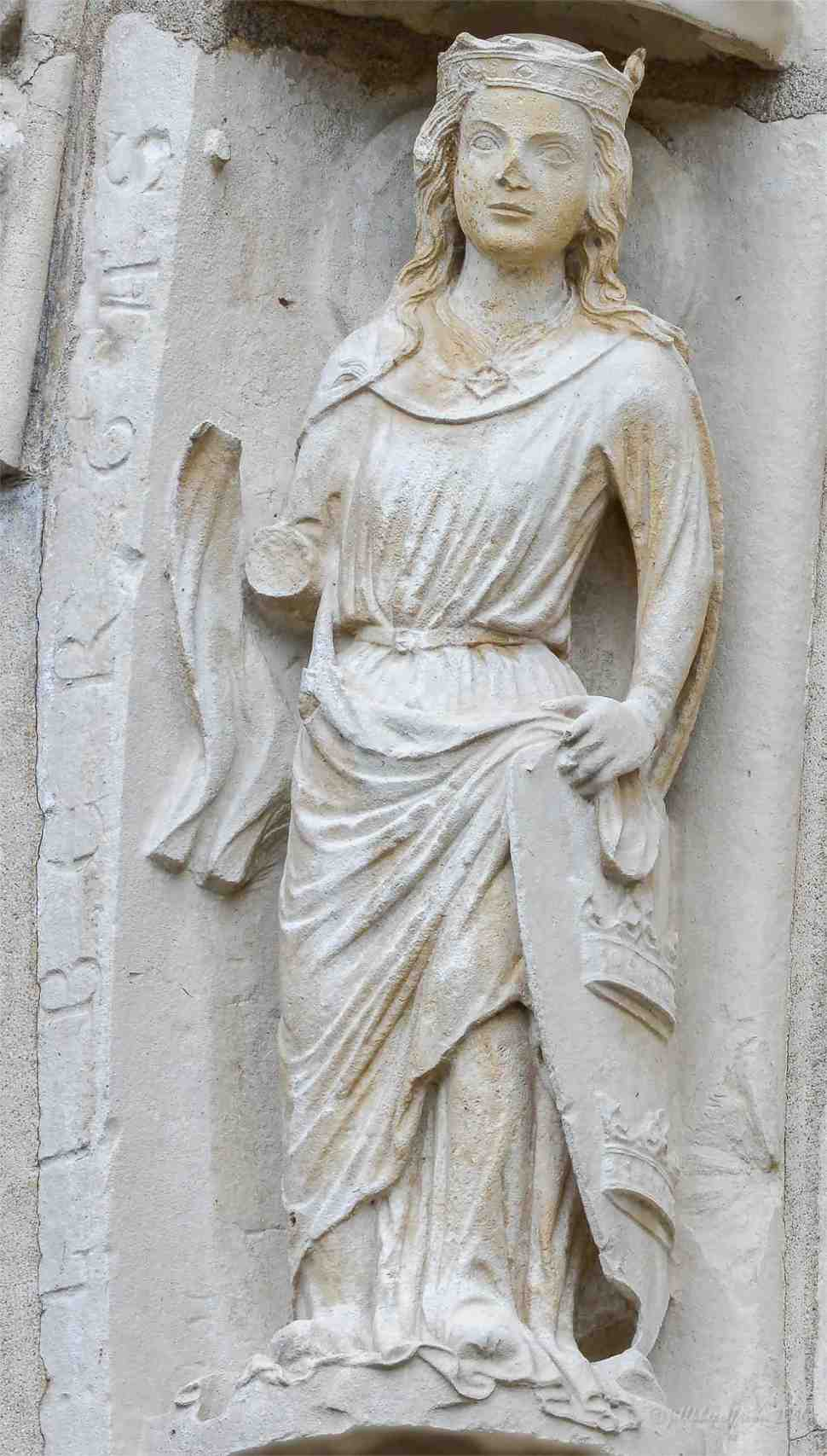 Liberty on the North Porch at Chartres by Jill K H Geoffrion