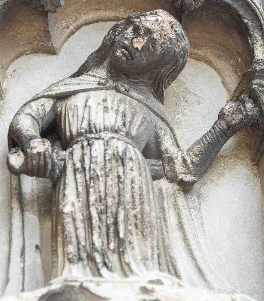 Despair, Virtues Vices on South Porch by Jill K H Geoffrion