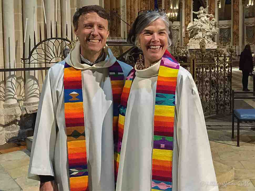 Tim and Jill Geoffrion after the Ecumenical Office de la Lumiière in Chartres