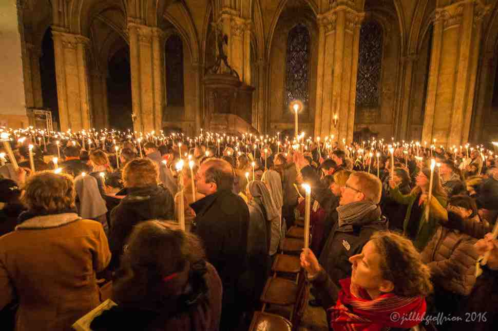 Easter Vigil at Chartres Cathedral by Jill K H Geoffrion