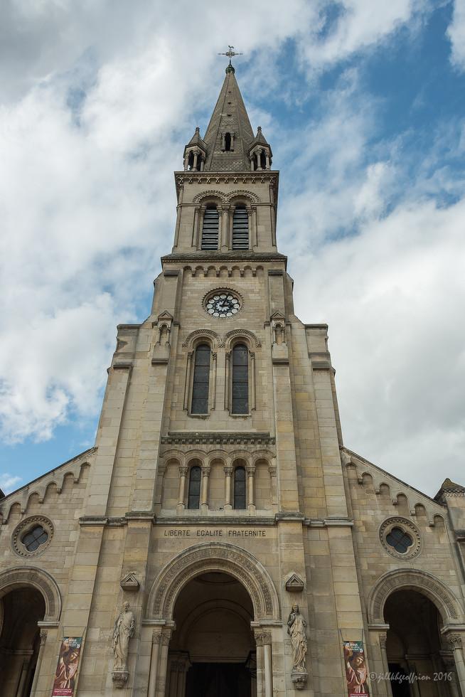 The church with La Sainte Chemise de Jésus by Jill K H Geoffrion