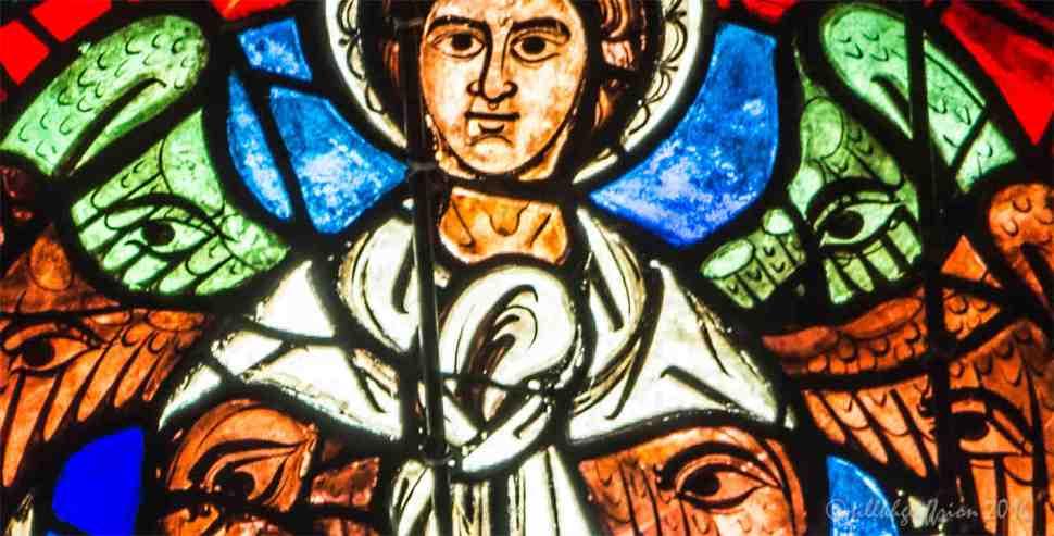 Cherubim, West rose at Chartres by Jill K H Geoffrion