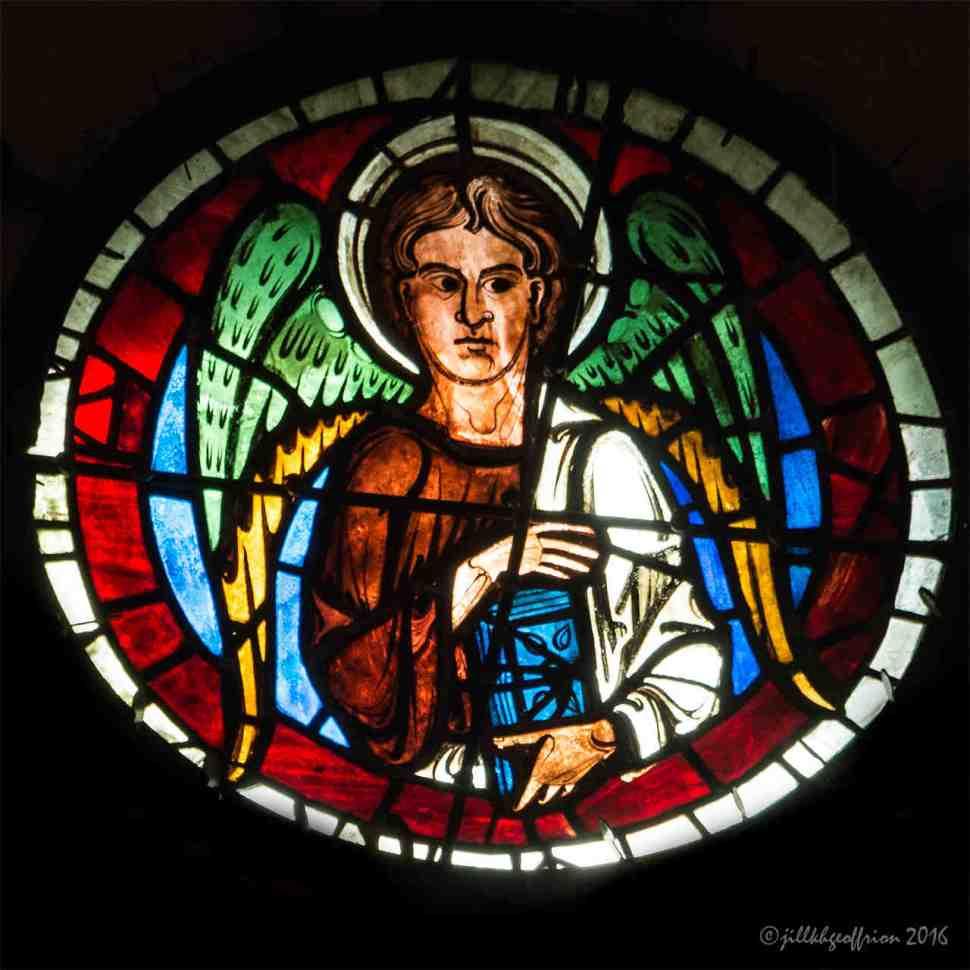 Gospel writer Matthew in the west rose by Jill K H Geoffrion