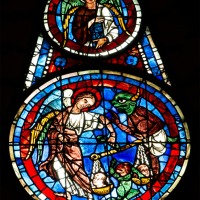 Michael Weighing Souls: The West Rose Window At Chartes (10)