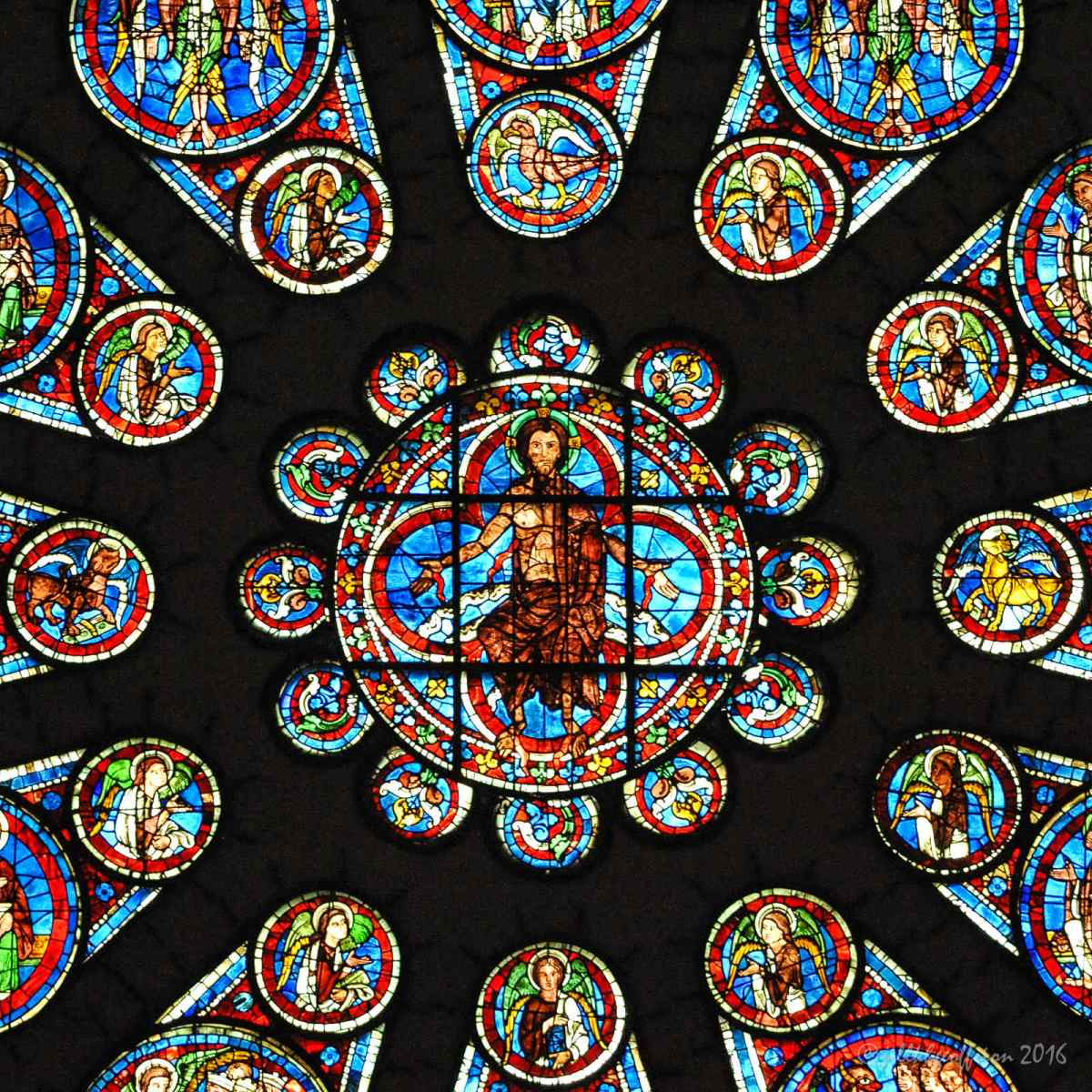 Matthew the Gospel Writer: The West Rose Window At Chartes (3)