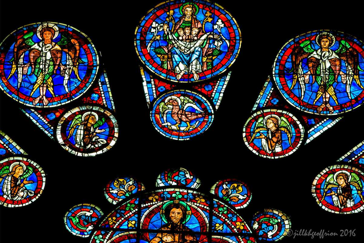 John the Gospel Writer: The West Rose Window At Chartes (5)