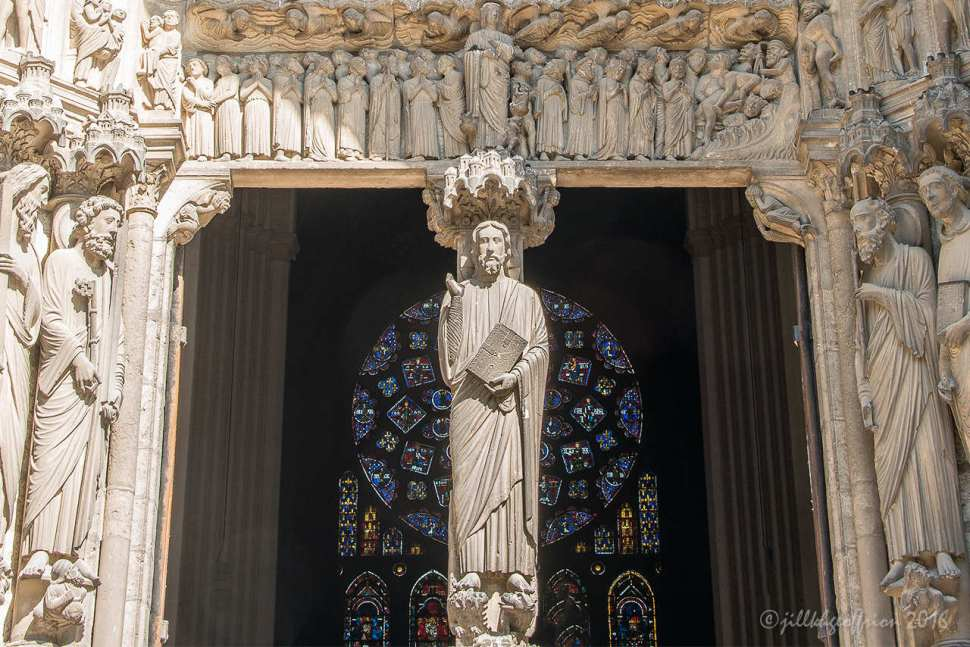 Jesus & South portal, Chartres by Jill K H Geoffrion