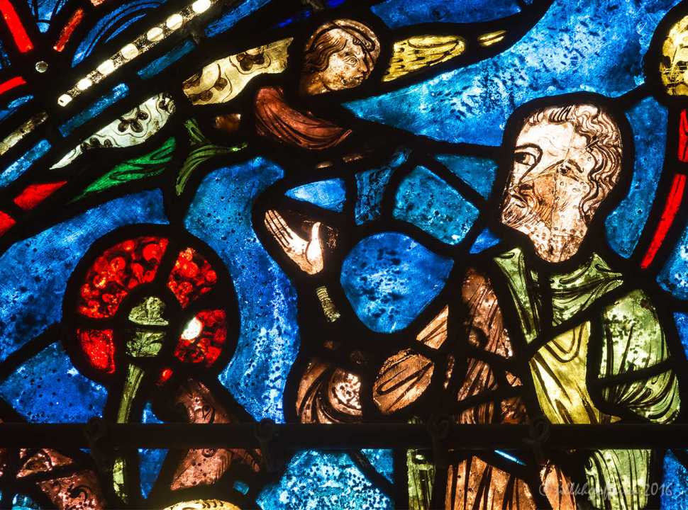 Life of Mary window