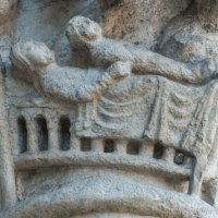 Mother and Son (The Nativity): The West Capital Frieze at Chartres (8)